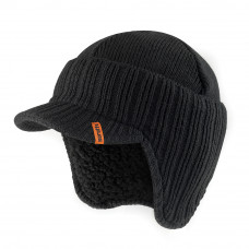 Scruffs Peaked Knitted Hat - Black