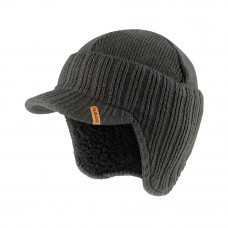 Scruffs Peaked Knitted Hat - Graphite